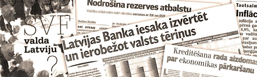 """Izaugsme un """"zemestrīce"""" – Latvijas Bankas monetārā politika 21. gs. sākumā (III)"""